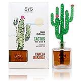 Ambientador Difusor Cactus SyS 90ml Canela-Naranja. Decoracion, Hogar, aromaterapia, Difusor de aromas