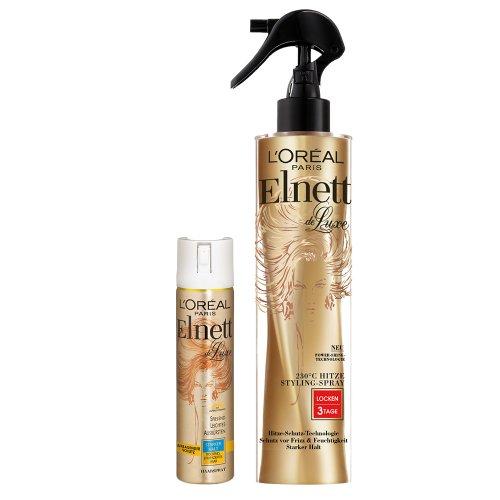 L  Oréal Paris elnett de Luxe–Calor Styling de spray rizos Plus Mini para cabello seco, 1er Pack (1x 170ml)