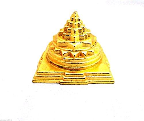 Siddhratan Plaqu/é Or Om Motif Svastika Trishul Environ 21,6/cm de Voiture /à Suspendre Laiton Tri Shakti Bouddha Vairocana Yantra de Voiture D/écoration int/érieure