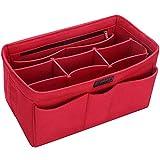 Ropch Taschenorganizer Filz Innentaschen für Handtaschen, Geldbeutel-Einsatz Reisetasche, Rot - XL