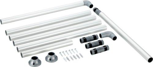 Ruco V 770 - Barra para cortina de ducha (aluminio, diámetro: 25...