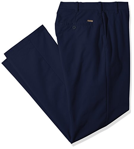 IZOD Men's Big and Tall Advantage Performance Flat Front Straight Fit Chino Pant, Blue, 44W X 30L