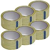 Home Line Cinta adhesiva transparente para embalaje de paquetes y cajas de almacenamiento, 48 mm x 66 m (6 rollos)