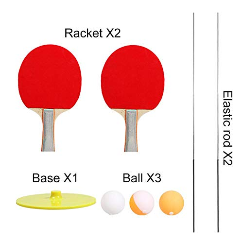 Elastic Soft Shaft Table Tennis Trainer, Table Tennis Trainer, 90CM Elastic Rod Decompression Eye Training Ball For Adults And Children Indoor Outdoor Play Improve Coordination/Reaction/Ability