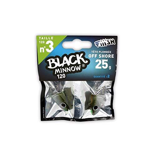 FIIISH Black Minnow 120 - 2 cabezas de calar Off Shore - 25g - Caqui