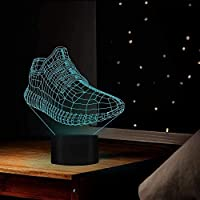 giyiohokスポーツシューズ3Dデザイン7色の常夜灯を部屋の装飾に変えるスポーツ愛好家のアスリートの友人への素晴らしい贈り物としてUSBポート-N28-N25