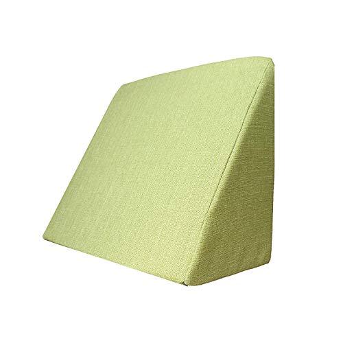 Salosan Keilkissen, Rückenstütze für Bett, Couch, Fernsehen und Tablet Relaxkissen, Lesekissen, Größe 60cm x 50cm Höhe 30cm grün