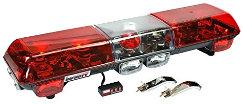 Wolo (7010-R) Infinity 1 Halogen Emergency Warning Light Bar - Red Lens, Roof Mount
