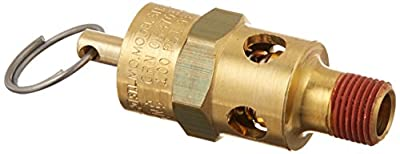 Control Devices ST2512-1A100 ST Series Brass Soft Seat ASME Safety Valve, 100 psi Set Pressure, 1/8 Male NPT from Control Devices