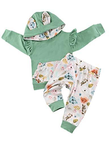 Ensemble de vêtements pour bébé fille avec capuche et...