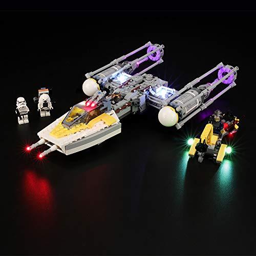 BRIKSMAX Kit de Iluminación Led para Lego Star Wars Y-Wing Starfighter, Compatible con Ladrillos de Construcción Lego Modelo 75172, Juego de Legos no Incluido