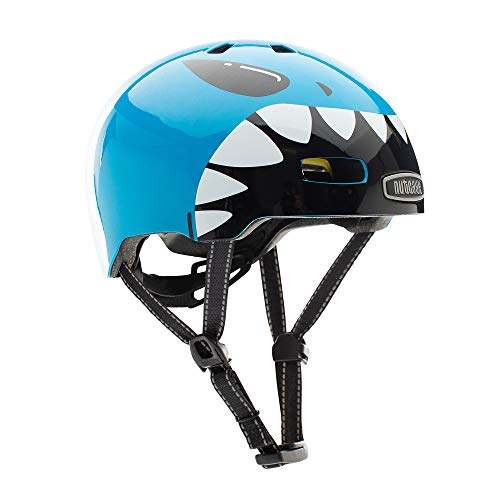 Nutcase Kinder Fahrradhelm Little Nutty MIPS Gloss, Lil Jaws, 48-52 cm, 10001