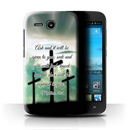 Hülle Für Huawei Ascend Y600 Christliche Bibel Vers Seek You Will Find/Matthew Design Transparent Ultra Dünn Klar Hart Schutz Handyhülle Case