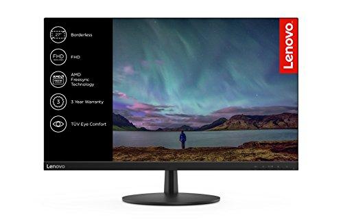 Monitor Lenovo L27i-28 de 68,58 cm (27 Pulgadas), 1920 x 1080, Full HD, 75 Hz IPS, Mate (VGA, HDMI, Tiempo de Respuesta de 4 ms, AMD FreeSync), Color Negro