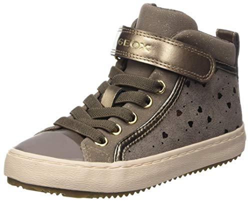 Geox J Kalispera Girl I Sneaker, (Dark Beige), 34 EU