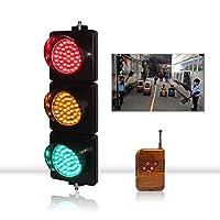 産業用LED交通 信号ライトリモコン機能付き、ø100mmレンズ、3色の赤/黄/緑のウォールライトインジケーター信号機セット