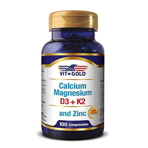Calcium, Magnesium and Zinc, 100 Comprimidos - Vit Gold