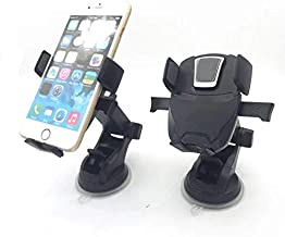 Yukeio Easy One Touch Mounting Universal Phone Stand with Telescopic Arm Extend for Windshield or Dashboard (Silver)