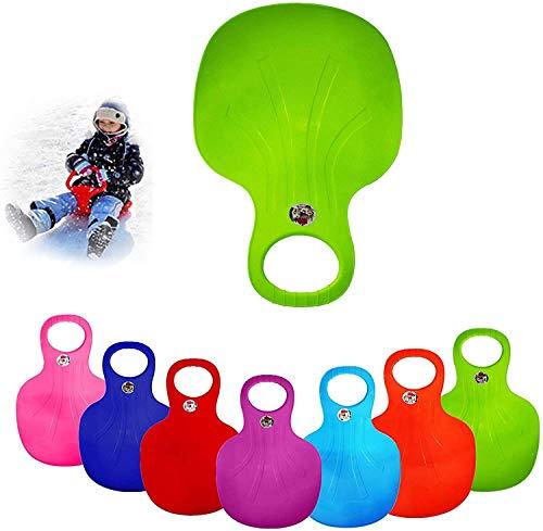 KUANGHUA Divertido trineo de nieve para niños y adultos, portátil, ligero descenso de nieve trineo Toboggan trineo para exteriores Parque de Invierno Césped