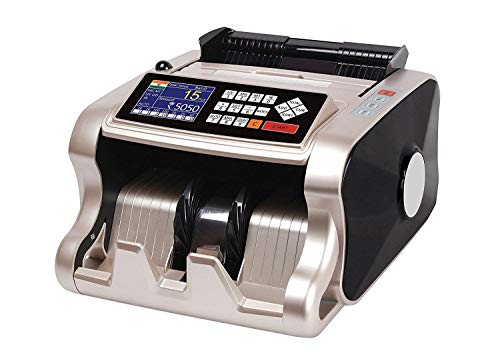Metis Mix Note Counting & Fake Note Detecting Machine for Banks, Offices, Industries, Money Exchange Counters (Updated with All New Currency Notes & can Also be Updated for Future Currency)