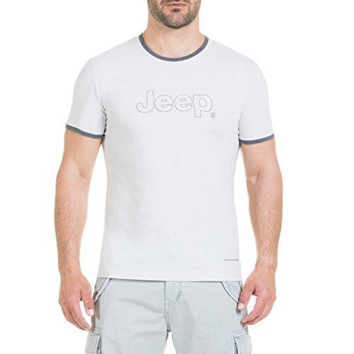 Jeep T-Shirt pour Homme avec Logo brodé. XL Gris Clair