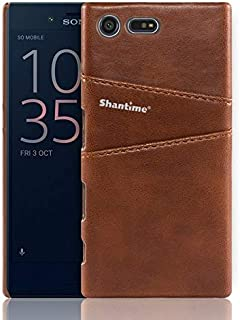 WSDDNTZ For Sony Xperia X Compact Xz Premium Leather Case For For Sony Xperia Xz1 Compact Xz1 Business Wallet Card Slots P...