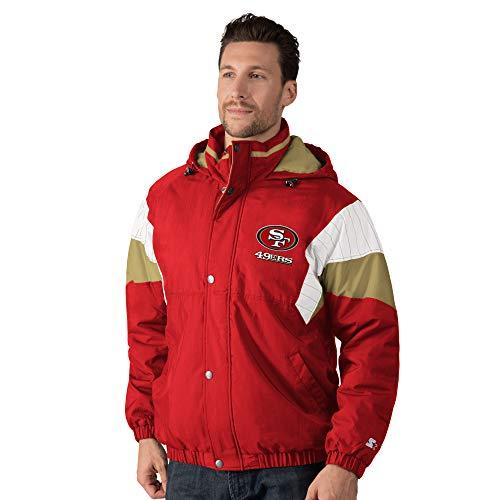 San Francisco 49ers NFL Starter BREAKOUT Full-Zip Button-Up Hooded Jacket - Scarlet (XXL)