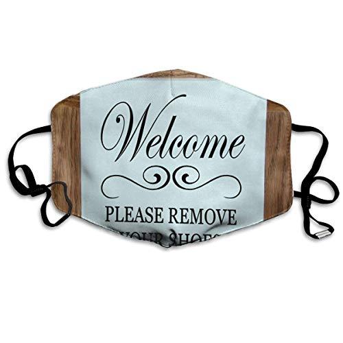 Verwijder uw schoenen op maat gepersonaliseerde gedrukte mond maskers unisex anti-stof maskers herbruikbare gezichtsmasker