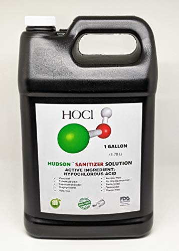 Hypochlorous Acid (1 Gallon) for Dental and Medical Professionals, All Natural HOCL Surface Cleaner for ULV Foggers