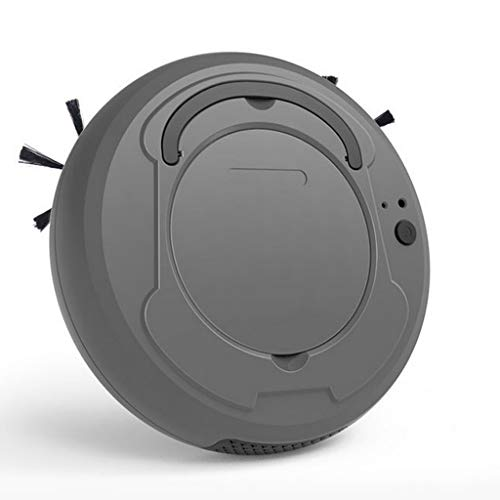 LHY Kitchen Robot aspiradora, Barrer Hogar Inteligente/Aspirar/Mopping Integrado de Tres-en-uno automático de Carga USB Vacuum Cleaner,Gris
