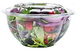commercial DOBI [50 Pack – 32 oz.] Takeaway Salad Container-Transparent, Disposable Plastic Salad Bowl … travel salad bowl