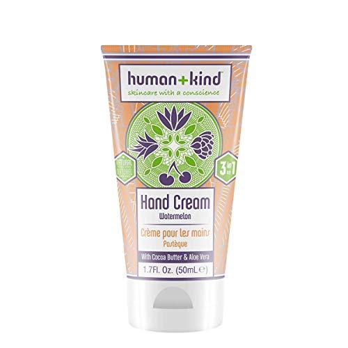 Human+Kind - Hand-Elbow-Feet Cream - Watermelon - Dérivé Naturel 99,45% - 3 en 1 - Avec du Beurre de Cacao et de L'aloe Vera - Nourrit - 1.7 fl oz/50 ml