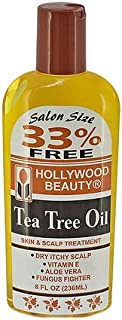 Hollywood Beauty Oil Skin & Scalp Treatment, Yellow, Tea Tree, 8 Fl Oz