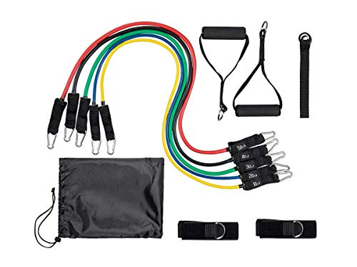GetFit Resistance Bands Set 5 Color-Coded Bands Durable Construction