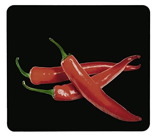 WENKO Crédence de cuisine en verre Hot Peperoni - Protège-plaque pour plaques de cuisson vitrocéramiques et induction, planche à découper, Verre trempé, 56 x 50 x 0.5 cm, Multicolore