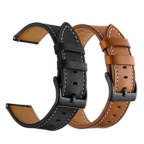 Correa de reloj de cuero genuino para Haylou Solar LS05 pulsera correa de muñeca de repuesto para...