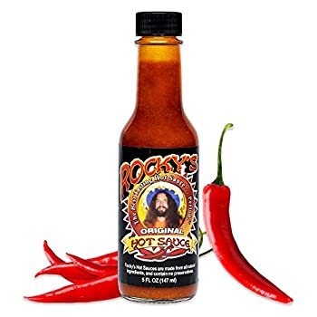 Rocky s Original Hot Sauce – Gourmet Red Chili Sauce with Perfectly Balanced Heat – Great Hot Sauce Gift and Wing Sauce - 5 oz