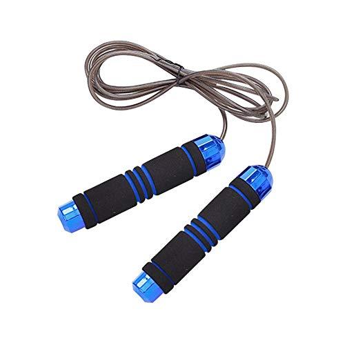 Springseil für Sport, verstellbare Springseile Hochleistungs-Stahl-Drahtgeflecht Wirrenfreies Schnellseil-Springseil für Männer, Frauen und Kinder