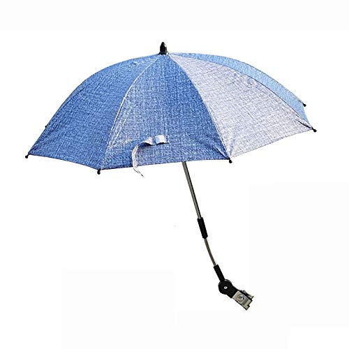 CXD Rollstuhl Sonnenschirm, Halfter Kinderwagen Durchmesser Regenschirm Sonnenliegen Moderner Schutz Garden Sommer Titan-Finish Twist-Lock-Sicherheitsläufer,2