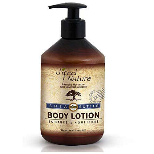 Difeel Nature Moisturizing Body and Hand Lotion Shea Butter 500 millilitres (Pack of 4)