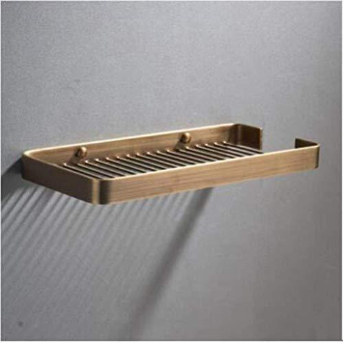 LXLH Shower Shelf,Solid Brass Wall Mounted Gold Bathroom Corner Shelf Bathroom Shampoo Shelf Bath Shower Shelf Bathroom Accessories