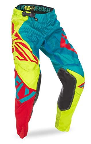 Fly Racing Unisex-Adult Evolution 2.0 Pants (Dark Teal/Hi-Vis, Size 30)