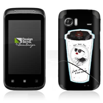 DeinDesign HTC 7 Mozart Case Skin Sticker aus Vinyl-Folie Aufkleber Kaffee Becher Comic