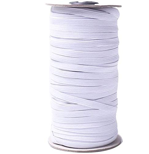 Elastic String for Masks,1/8 Inch Elastic Bands for Sewing,Length Width Braided Elastic Band White Elastic String Cord Heavy Stretch High Elasticity Knit Elastic Band for Mask Sewing Craft DIY