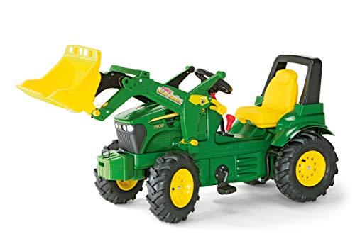 Rolly Schneider Novus 71 012 6 J. Deere 7930 - Tractor Miniatura con neumáticos, transmisión, Frenos y Pala de Carga (146 cm) [Importado de Alemania]