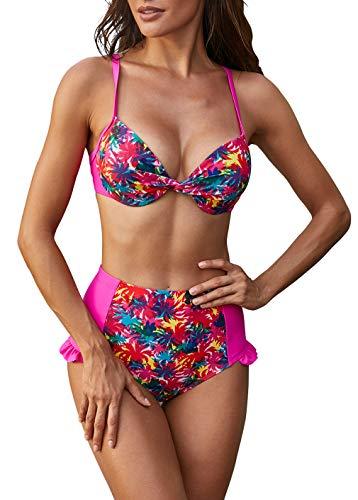 DEMU dames bikiniset badmode badpak push up swimsuits strand badkleding badmode
