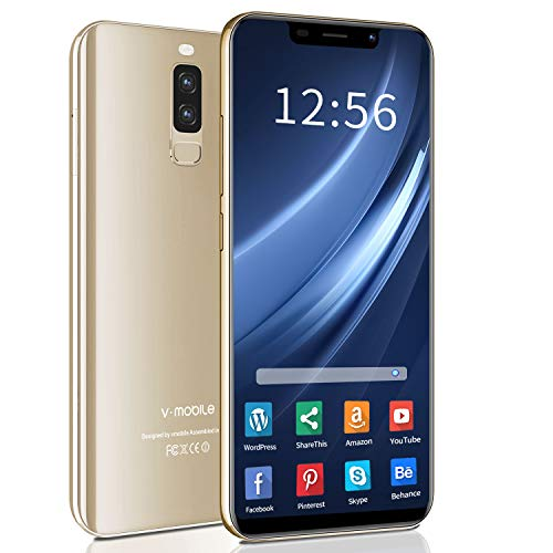 """Unlocked Smartphones, V·Mobile S9+ 4G Dual SIM Unlocked Cell Phones, 5.85"""" HD Display, 13MP Cameras, 3GB/32GB, 128GB Extension,3800mAh GPS Bluetooth Cell Phones Unlocked Support AT&T, T-Mobile -Gold"""