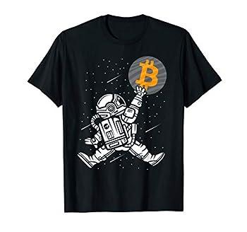 Bitcoin To The Moon Shirt Astronaut Bitcoin HODL BTC Crypto T-Shirt