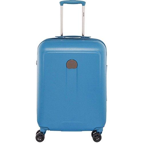 DELSEY PARIS - HELIUM AIR 2 - Valise trolley cabine slim 4 doubles roues, 55 cm, 37L, Bleu