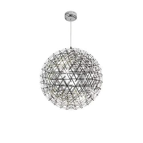LOOZY Postmodern Led Kugel Kronleuchter Modern Deckenlampe Kreative Funken Künstlerische Persönlichkeit Edelstahl Dekorative Für Studio Esszimmer Badezimmer Schlafzimmer (Color : Weißes Licht)
